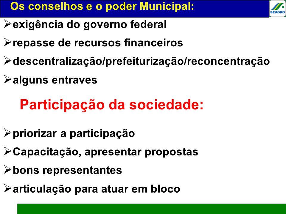 Participação da sociedade: