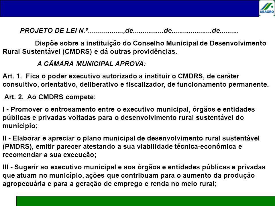 SUGESTÃO DE PROJETO DE LEI