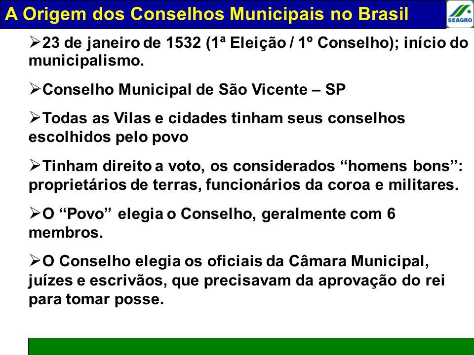 A ORIGEM DOS COSELHOS MUNICIPAIS NO BRASIL