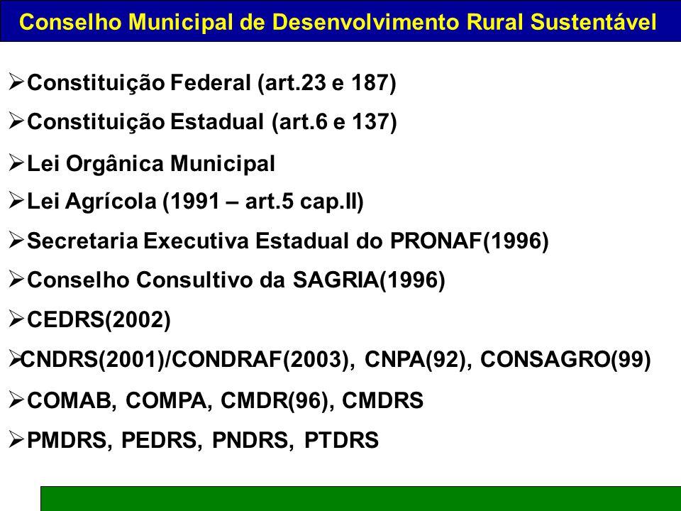 CONSELHO MUNICIPAL DE DESENVOLVIMENTO RURAL SUSTENTÁVEL