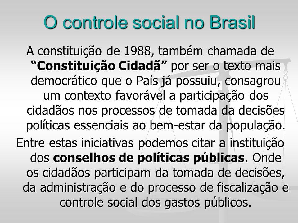 O controle social no Brasil