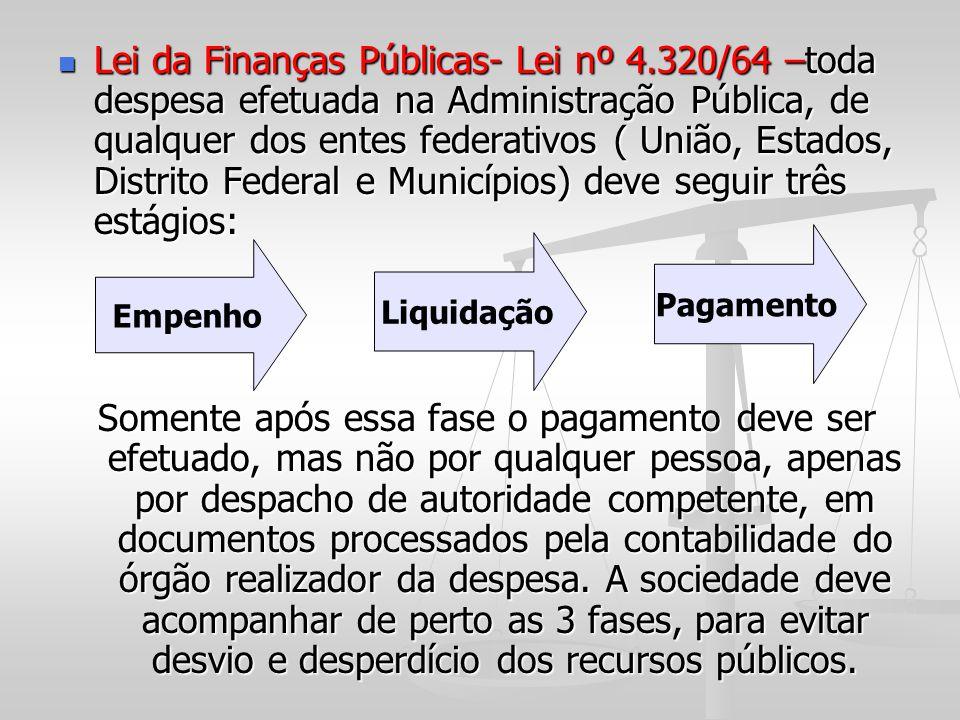Lei da Finanças Públicas- Lei nº 4
