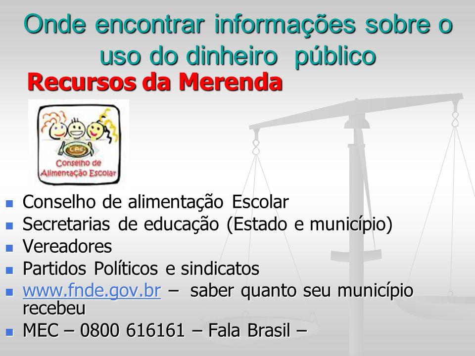 Onde encontrar informações sobre o uso do dinheiro público