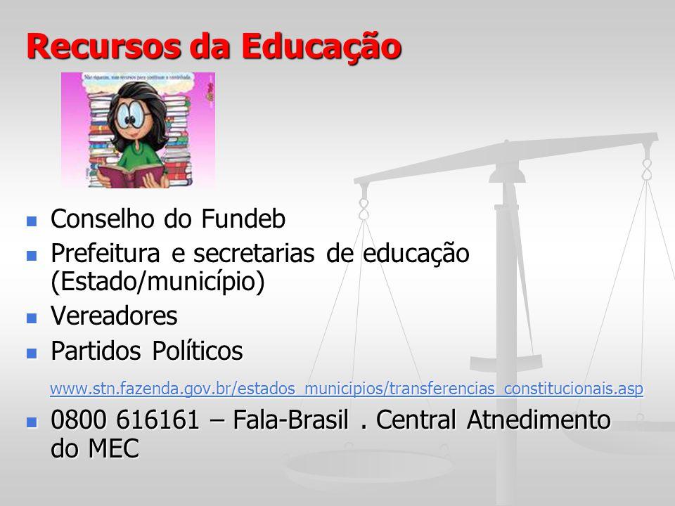 Recursos da Educação Conselho do Fundeb