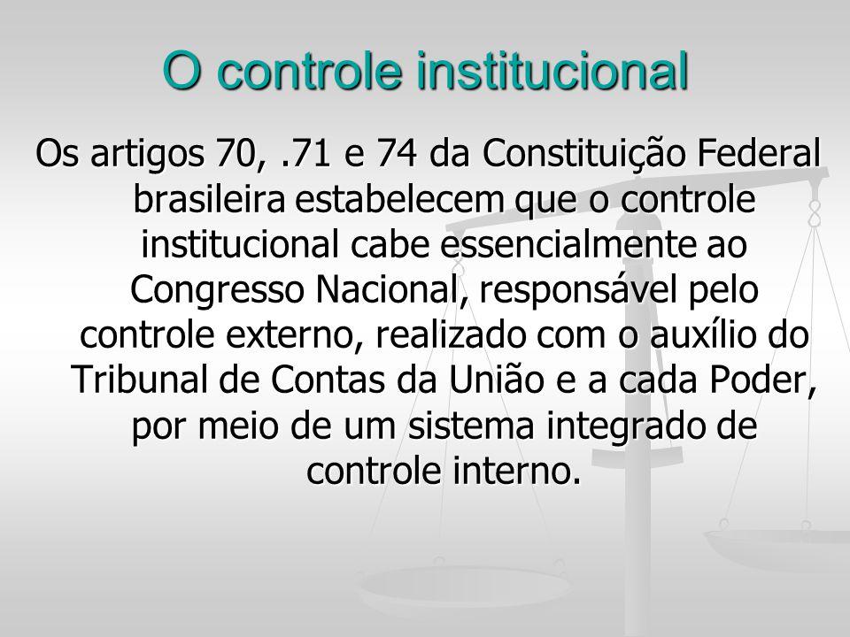 O controle institucional