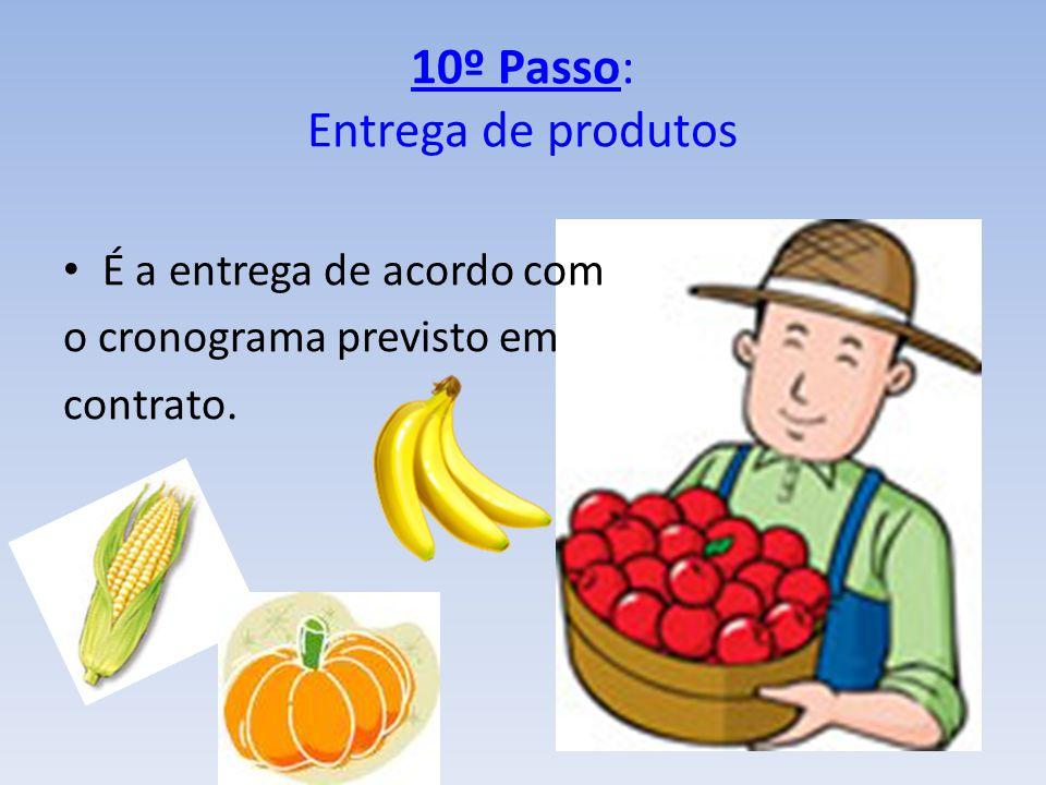 10º Passo: Entrega de produtos