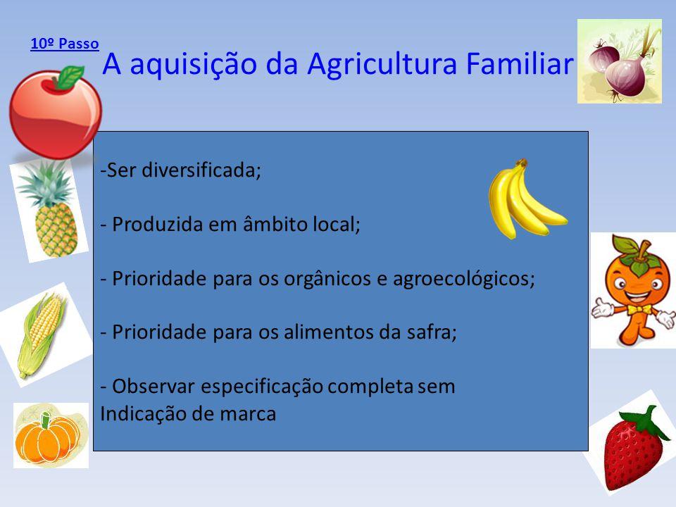 A aquisição da Agricultura Familiar