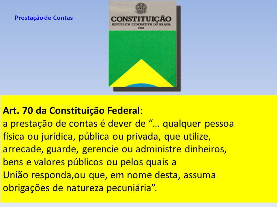 Art. 70 da Constituição Federal: