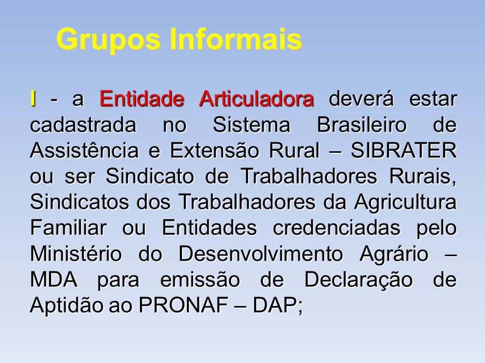 Grupos Informais