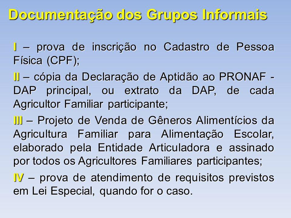 Documentação dos Grupos Informais