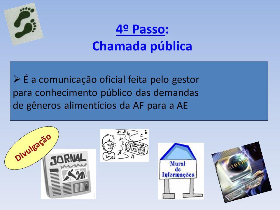 4º Passo: Chamada pública