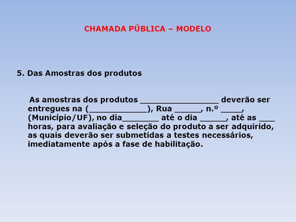 CHAMADA PÚBLICA – MODELO
