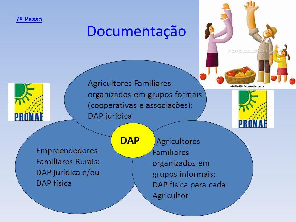 Documentação DAP Agricultores Familiares organizados em grupos formais