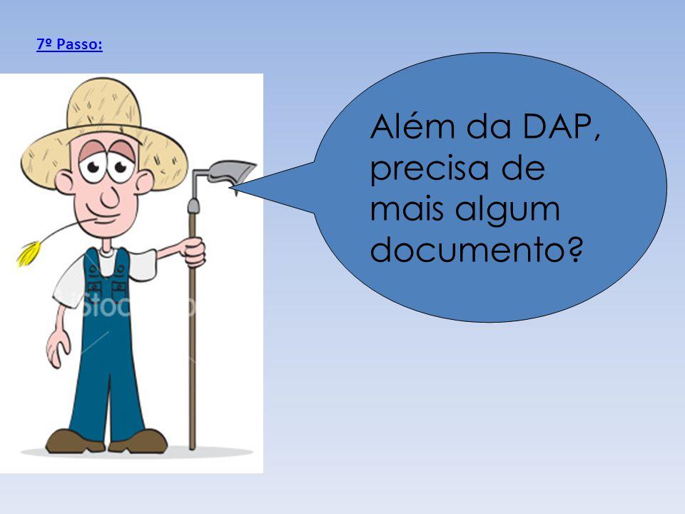 Além da DAP, precisa de mais algum documento