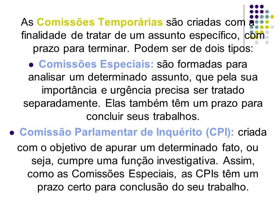 Comissão Parlamentar de Inquérito (CPI): criada