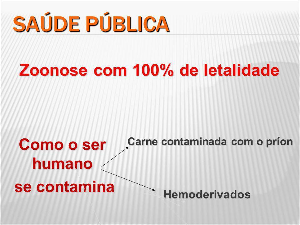 Carne contaminada com o príon