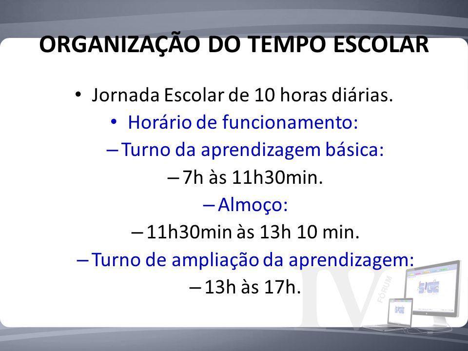 ORGANIZAÇÃO DO TEMPO ESCOLAR