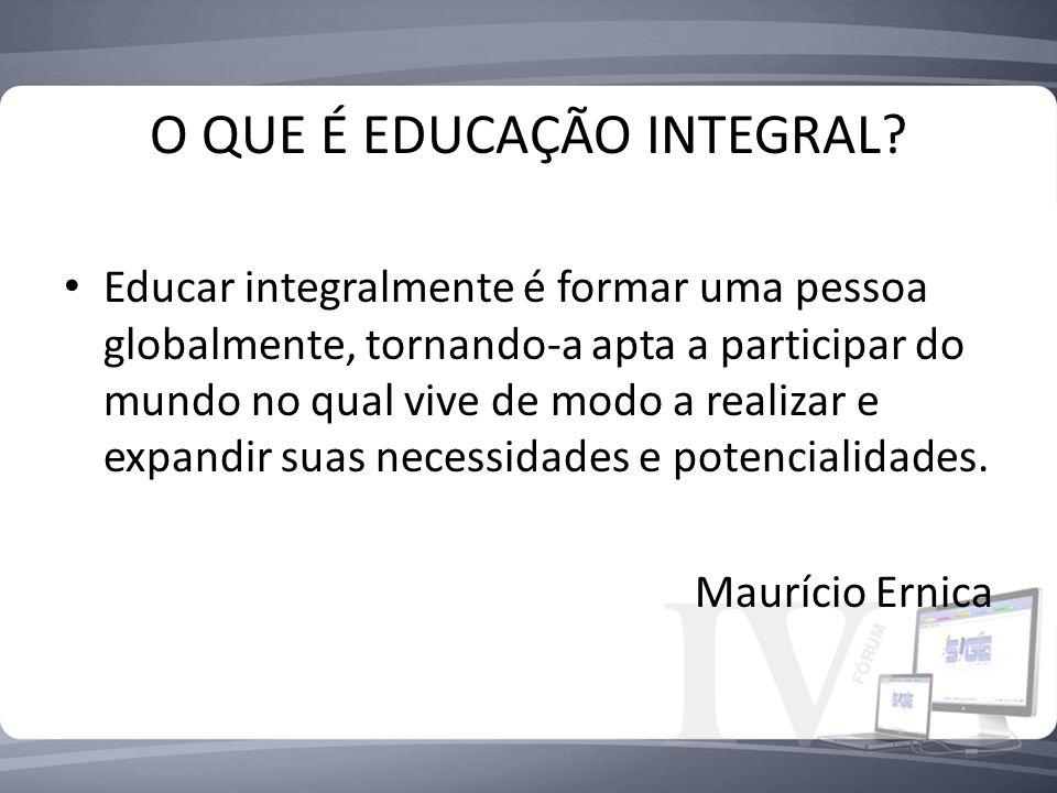 O QUE É EDUCAÇÃO INTEGRAL
