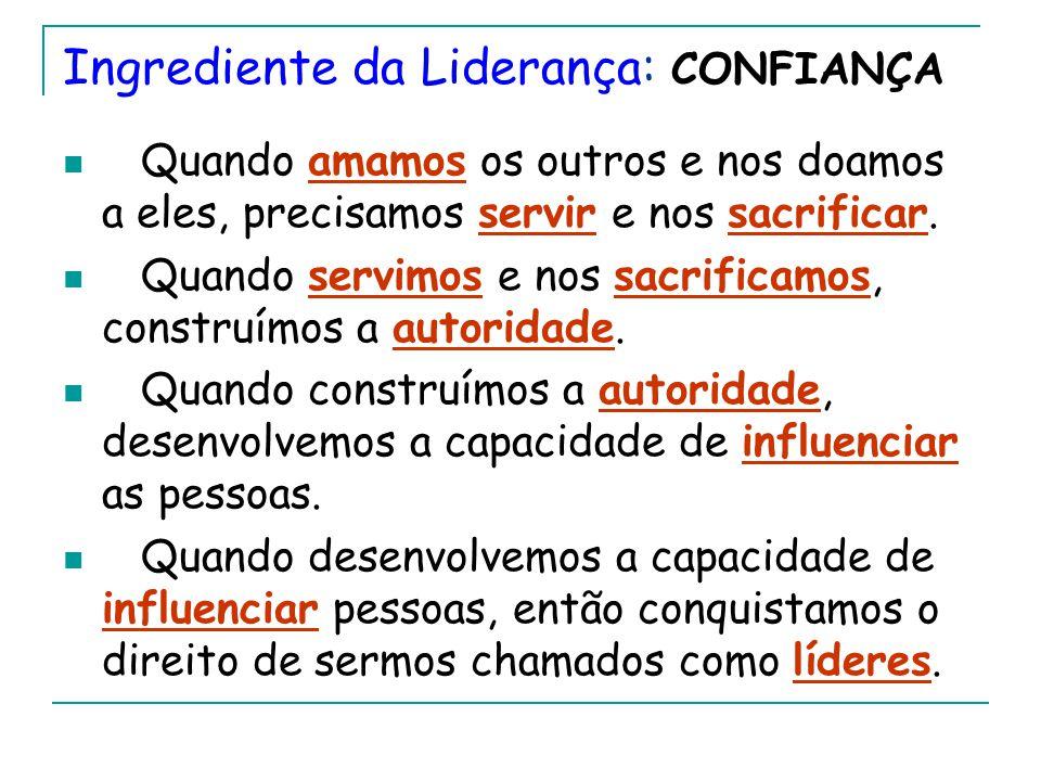 Ingrediente da Liderança: CONFIANÇA