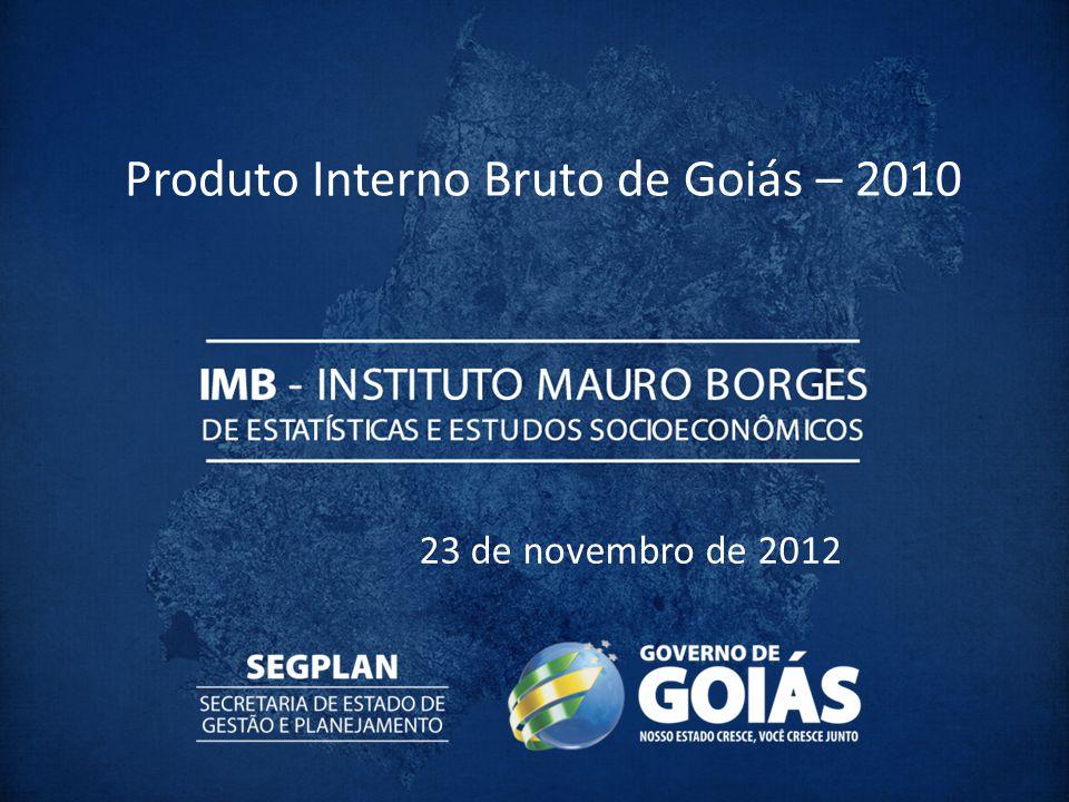 Produto Interno Bruto de Goiás – 2010
