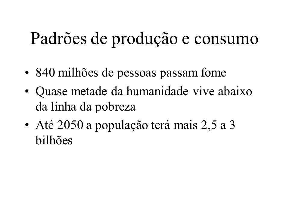Padrões de produção e consumo
