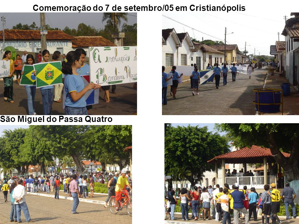 Comemoração do 7 de setembro/05 em Cristianópolis