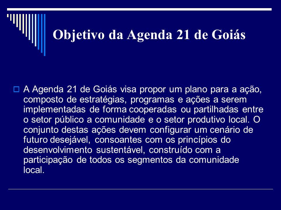 Objetivo da Agenda 21 de Goiás