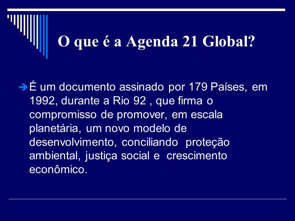 O que é a Agenda 21 Global