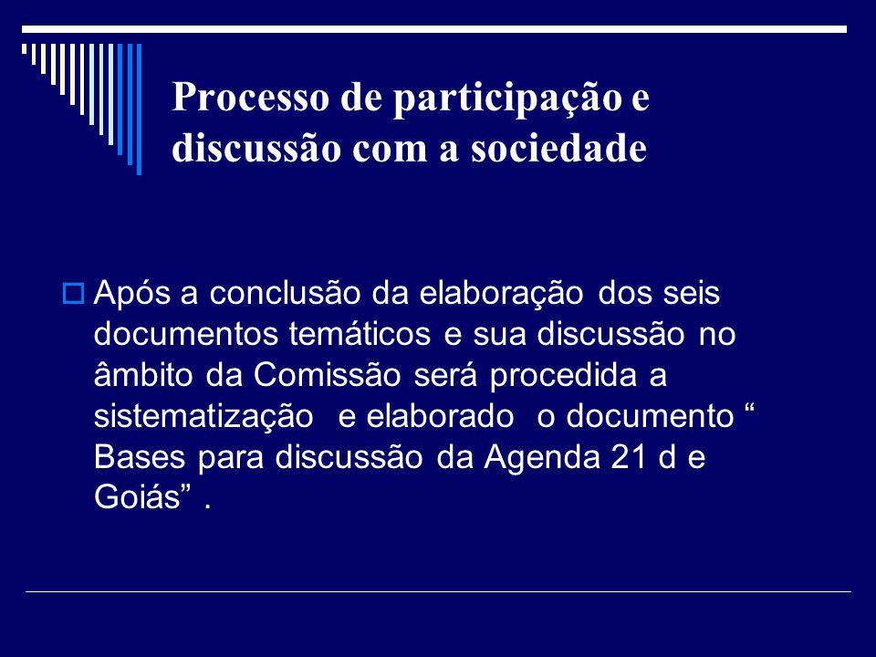 Processo de participação e discussão com a sociedade