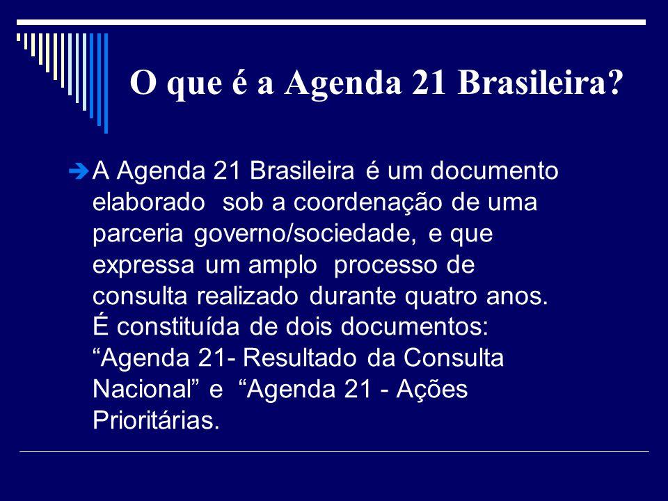 O que é a Agenda 21 Brasileira