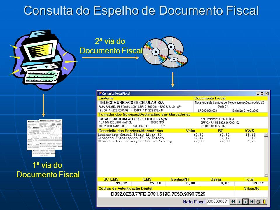 Consulta do Espelho de Documento Fiscal