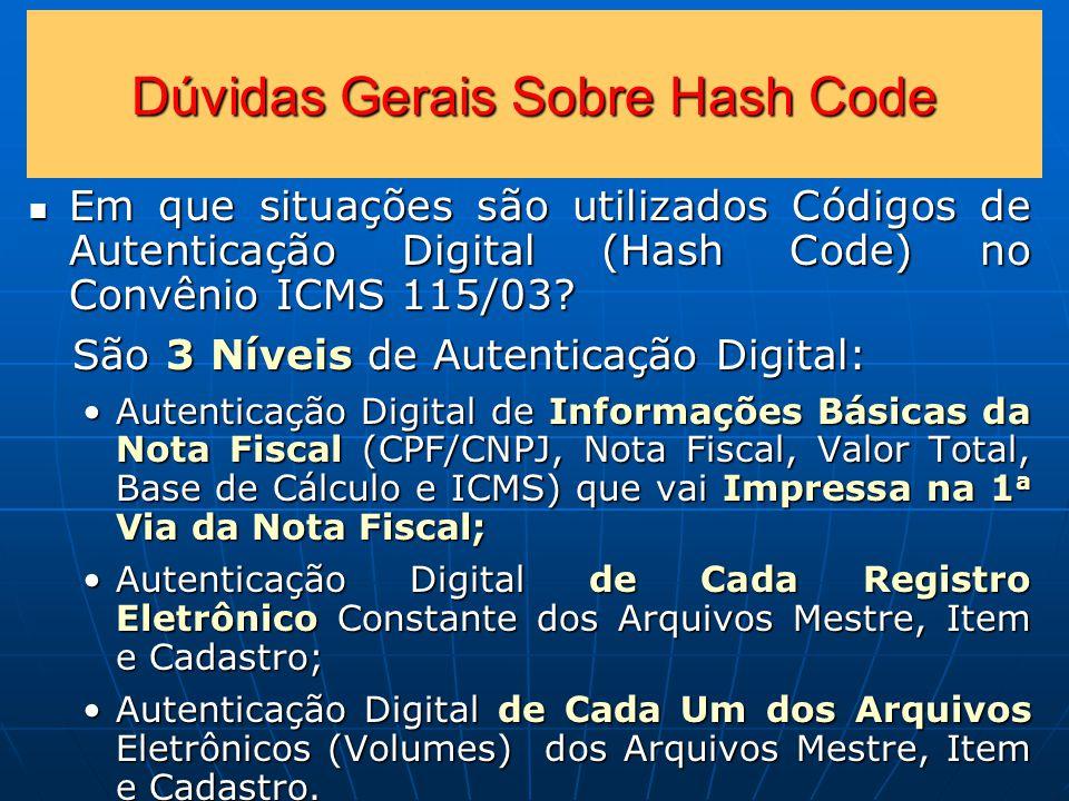 Dúvidas Gerais Sobre Hash Code
