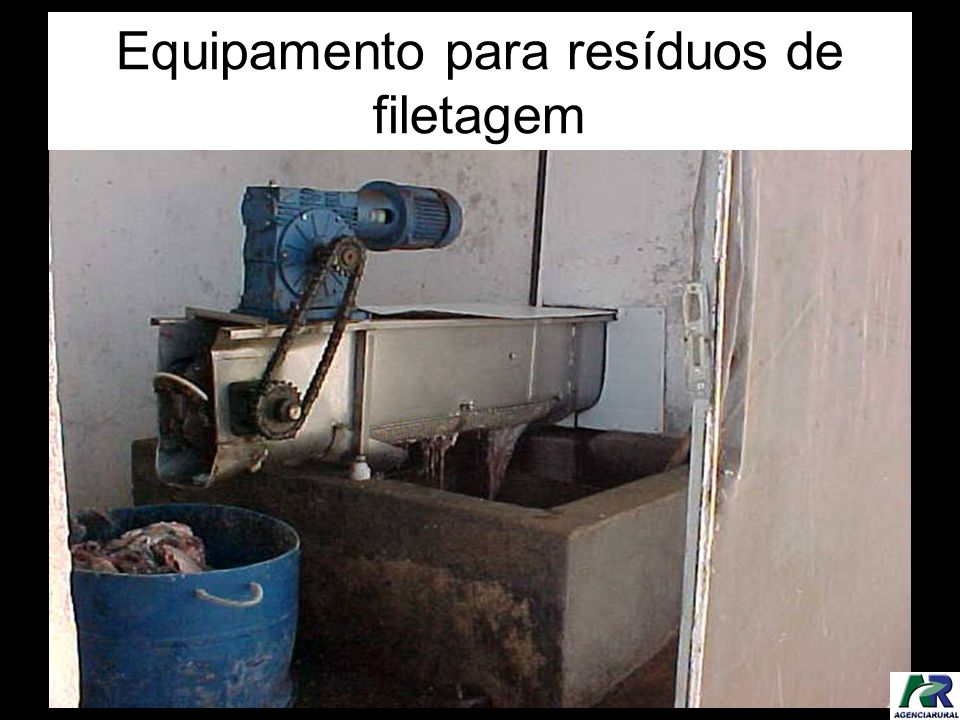 Equipamento para resíduos de filetagem