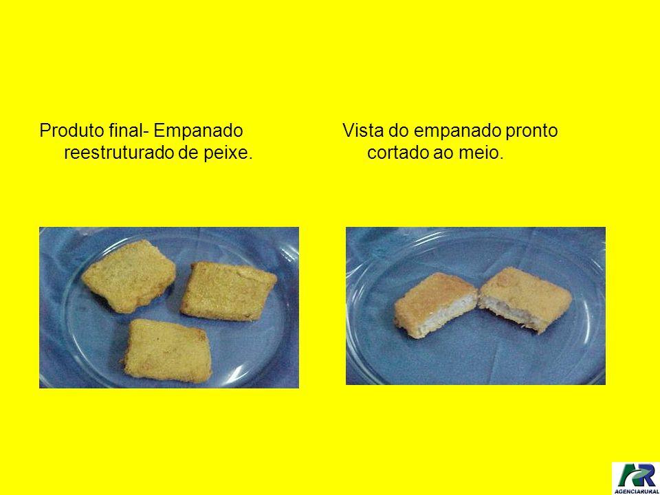 Produto final- Empanado reestruturado de peixe.