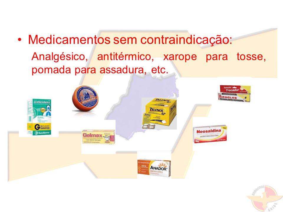 Medicamentos sem contraindicação:
