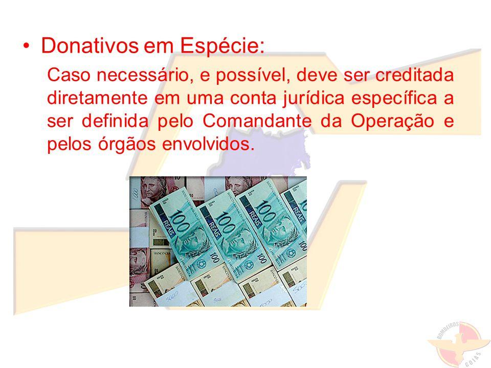 Donativos em Espécie: