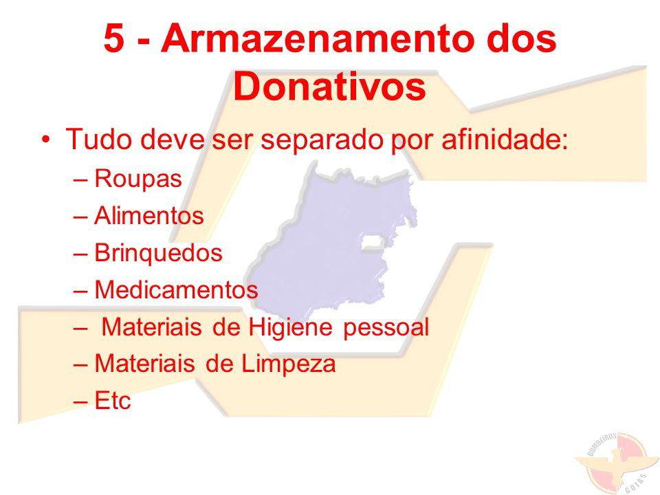 5 - Armazenamento dos Donativos