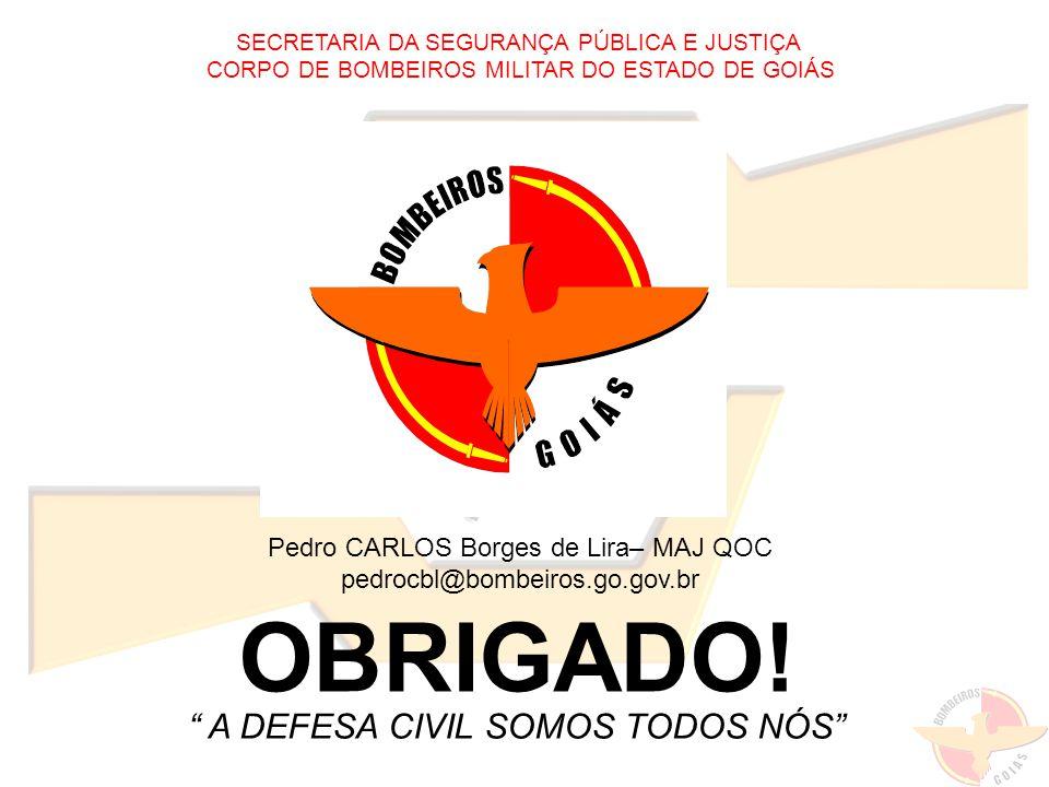 Pedro CARLOS Borges de Lira– MAJ QOC pedrocbl@bombeiros.go.gov.br