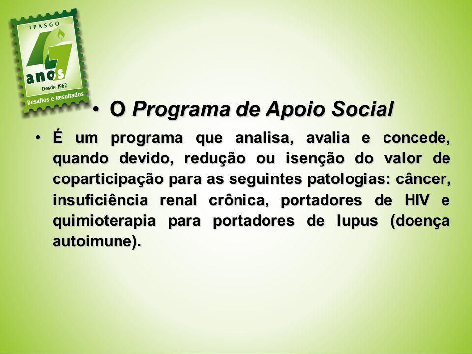 O Programa de Apoio Social