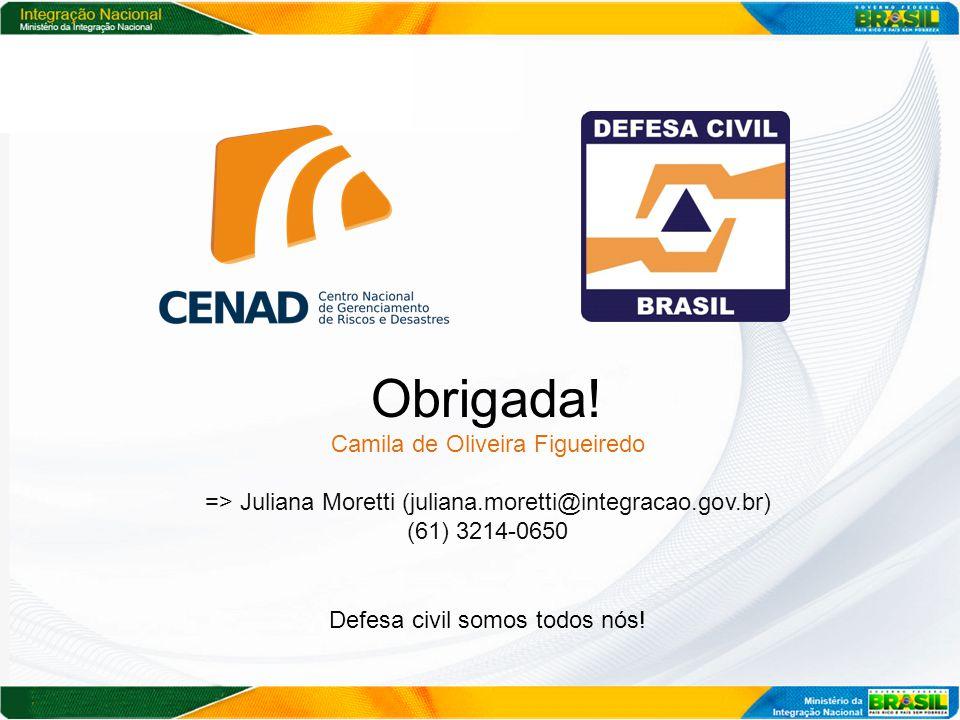 Obrigada! Camila de Oliveira Figueiredo
