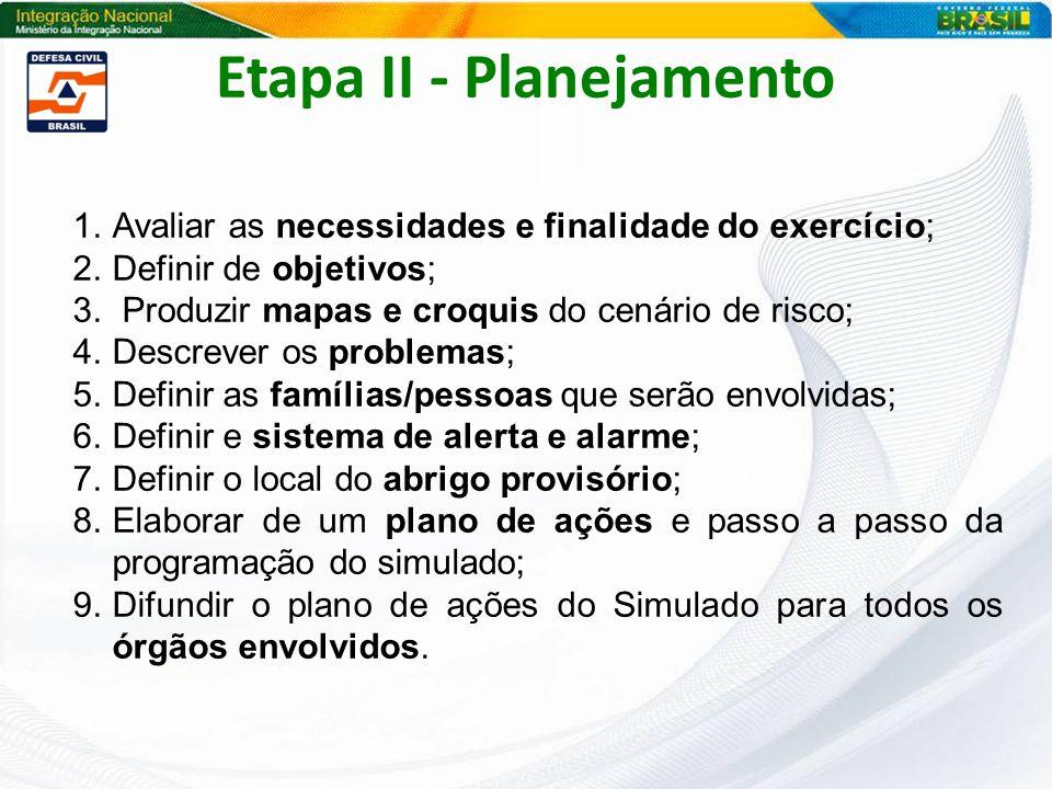 Etapa II - Planejamento