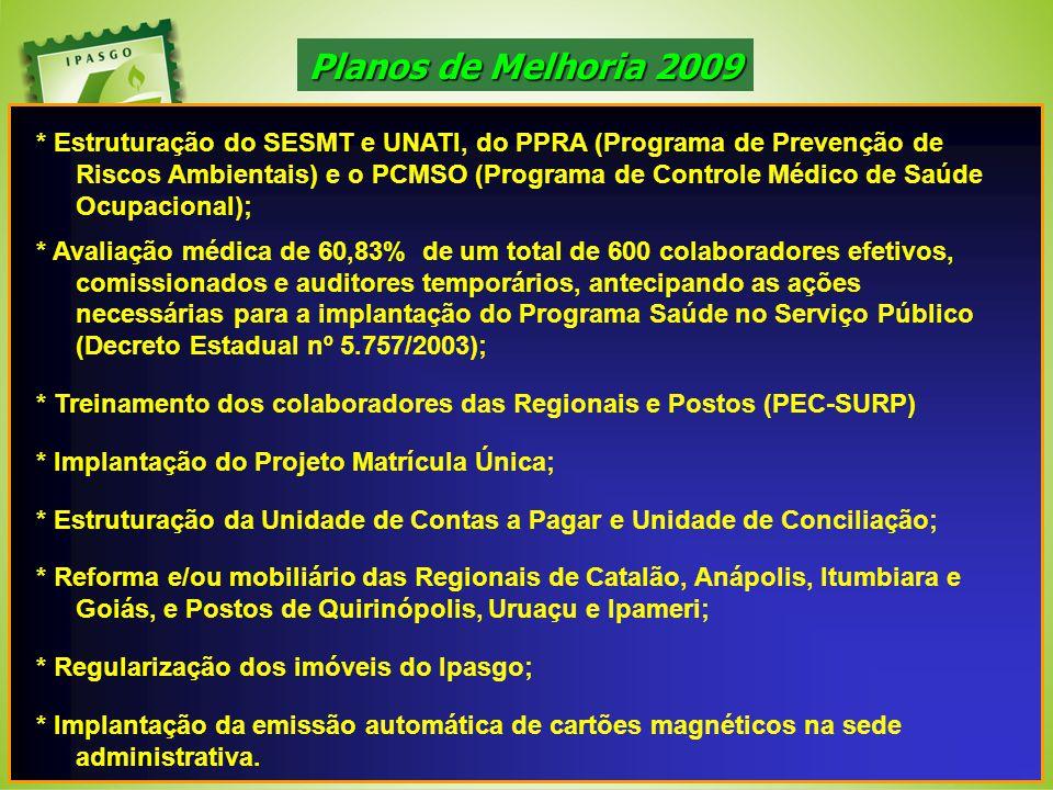 Planos de Melhoria 2009