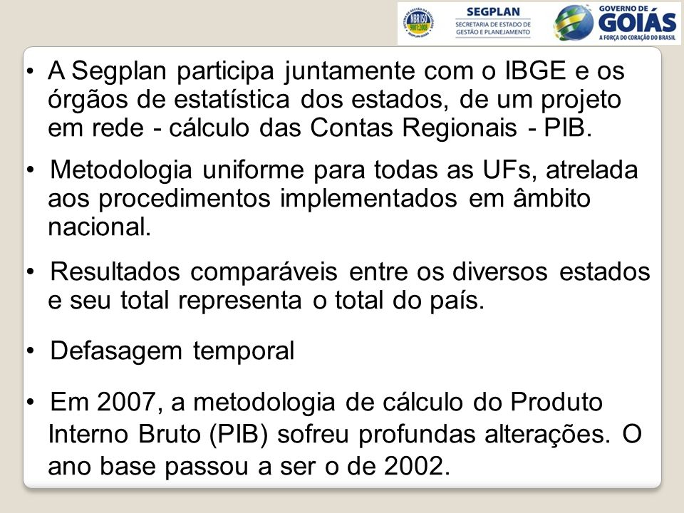 órgãos de estatística dos estados, de um projeto