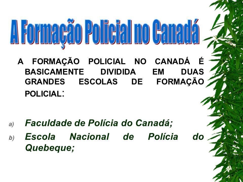 A Formação Policial no Canadá