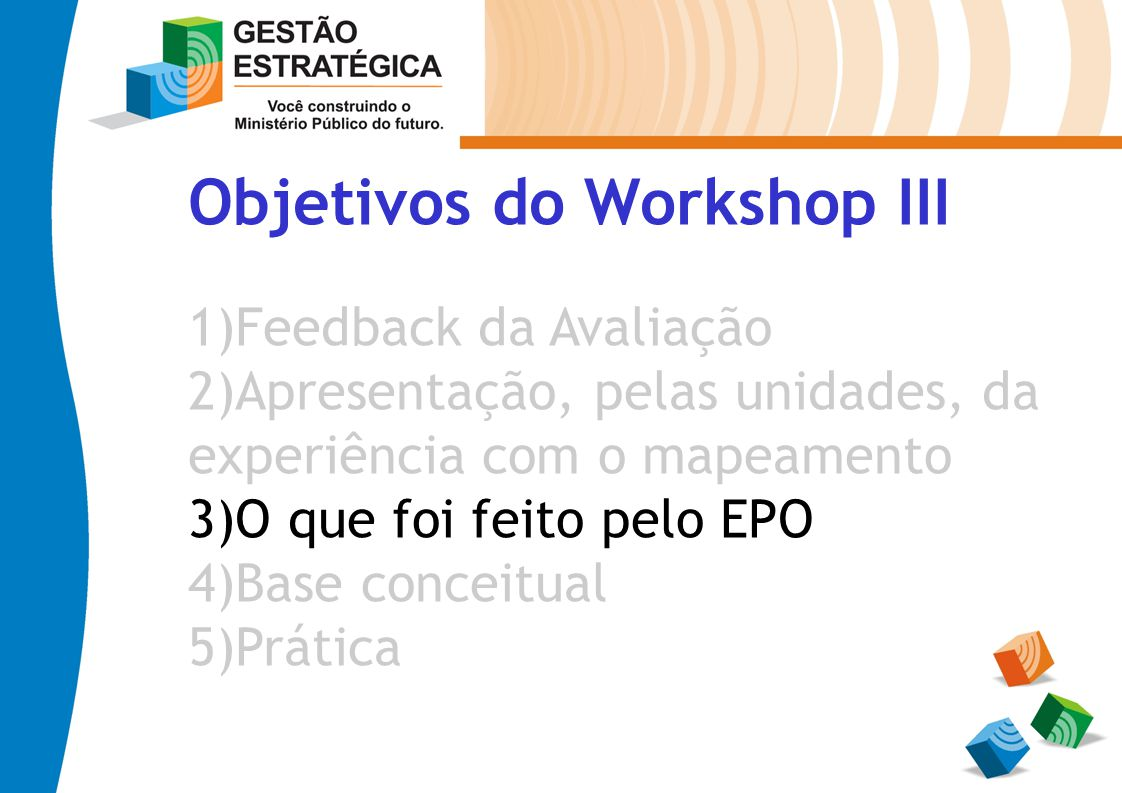 Objetivos do Workshop III