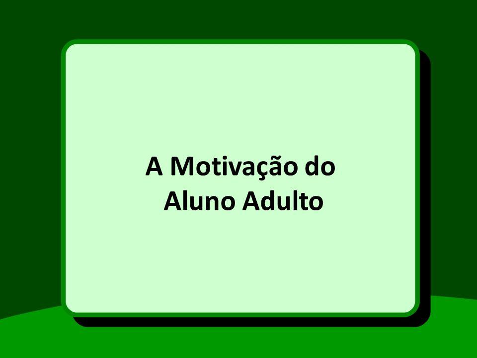 A Motivação do Aluno Adulto