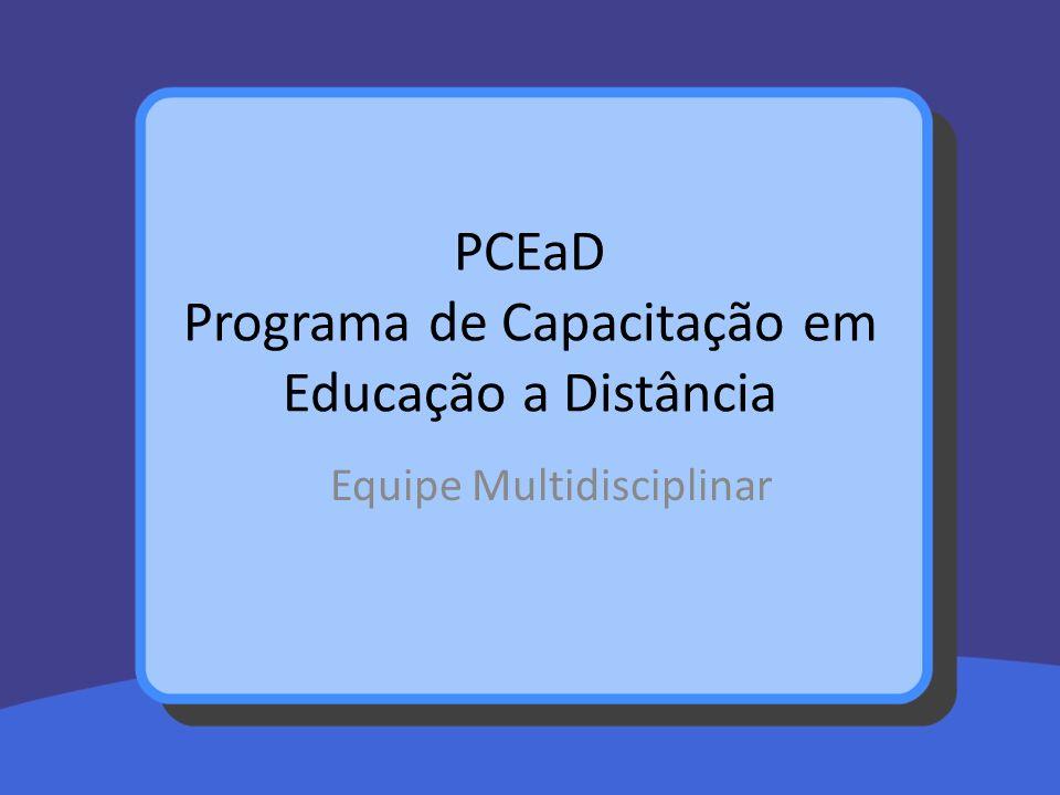 PCEaD Programa de Capacitação em Educação a Distância
