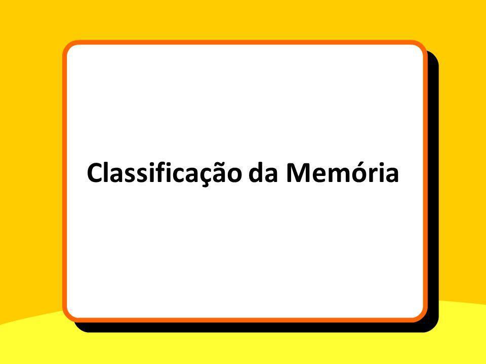 Classificação da Memória