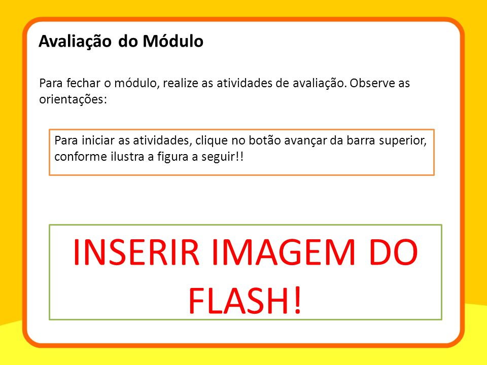 INSERIR IMAGEM DO FLASH!