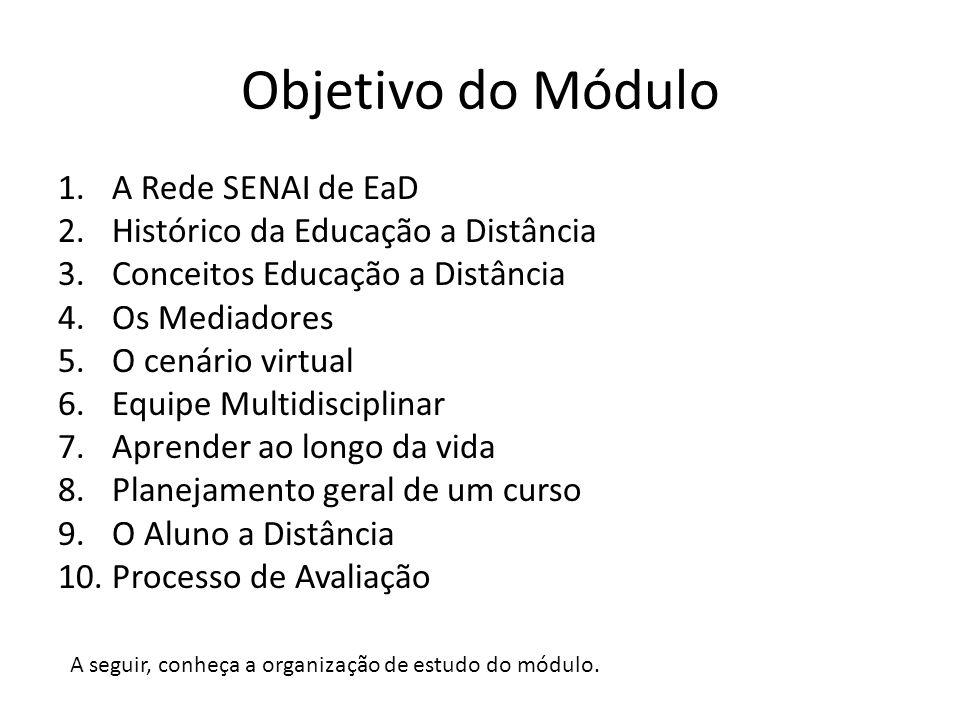 Objetivo do Módulo A Rede SENAI de EaD